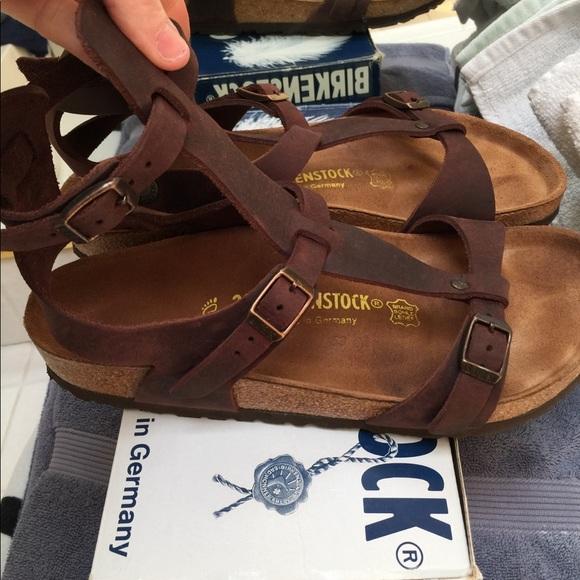 adf728275285 Birkenstock Shoes - Birkenstock chaina gladiator w box. Habana in 39r